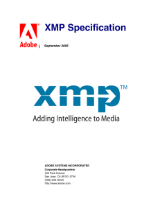 (XMP) Specification