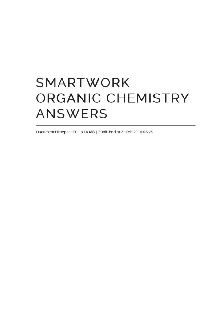 sapling learning organic chemistry answers pdf