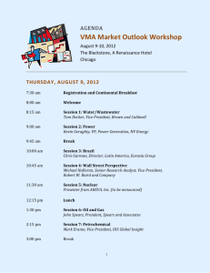 VMA Market Outlook Workshop