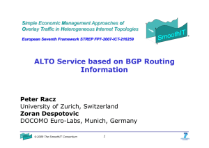 ALTO Service based on BGP Routing Information