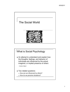 The Social World - Heather Lench, Ph.D.