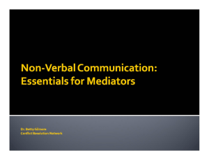 Slides from the presentation - Conflict Resolution Network