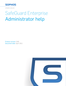 SafeGuard Enterprise Administrator help