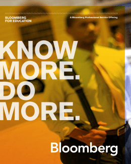Bloomberg education