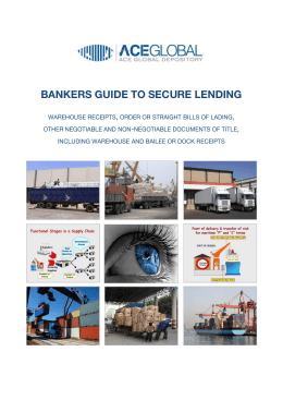 BANKERS GUIDE TO SECURE LENDING