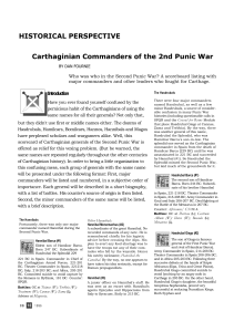 Carthaginian Commanders of the 2nd Punic War