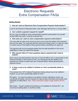 Electronic Requests Extra Compensation FAQs