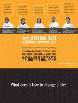 What does it take to change a life?