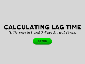 Calculating Lag Time
