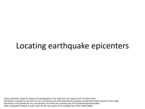 Locating earthquake epicenters