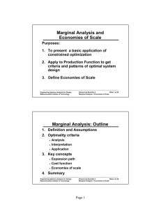 Marginal Analysis and Economies of Scale