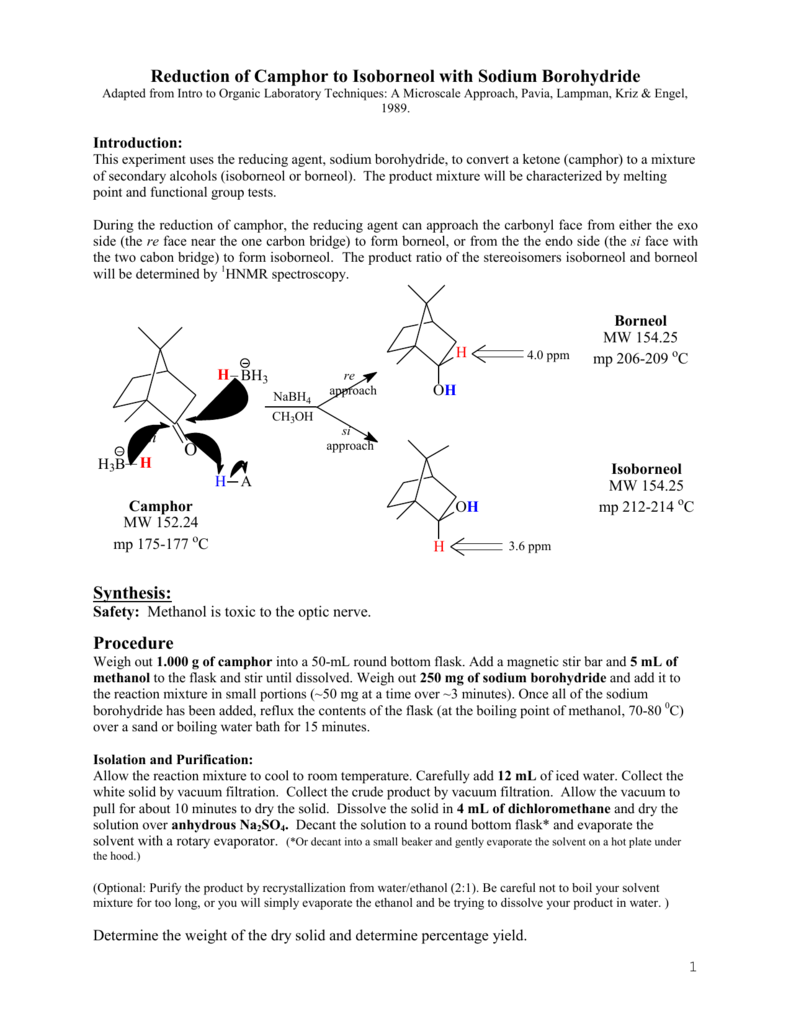 synthesis of camphor using oxone reaction mechanism