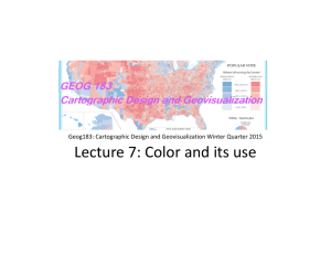 Lecture 7: Color and its use