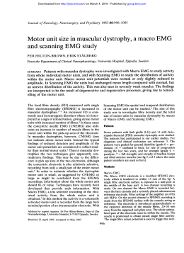 Motor unit size in muscular dystrophy, a macro EMG and scanning