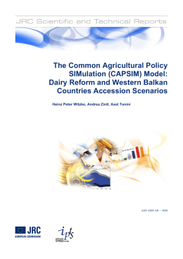The Common Agricultural Policy SIMulation (CAPSIM) Model: Dairy