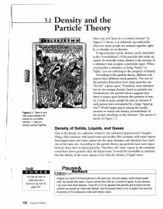 M Density and the Particle Theory