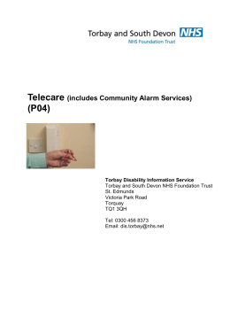 Telecare (includes Community Alarm Services)