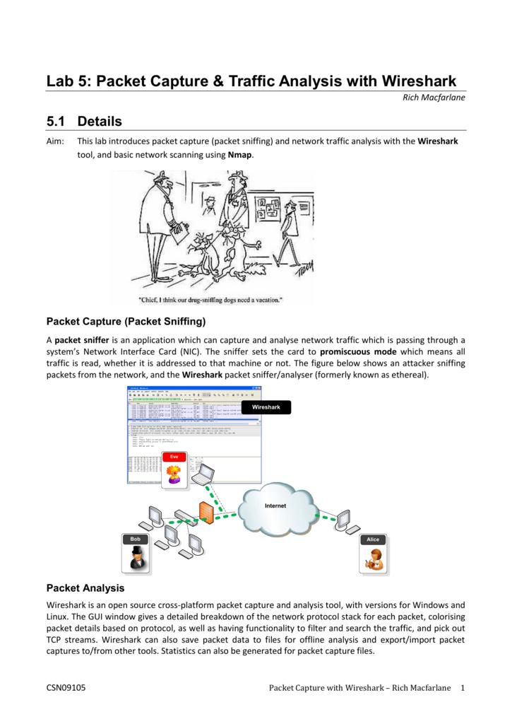 Lab 5: Packet Capture & Traffic Analysis with Wireshark