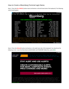 How to Create a Bloomberg Terminal Login Name.