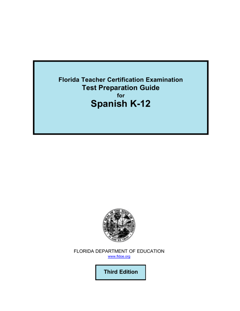 Spanish K12 Ftcefele Home Teacher Certification Testing