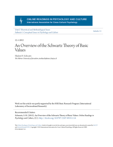 An Overview of the Schwartz Theory of Basic Values