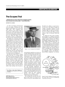 The Scopes Trial - Penn State University