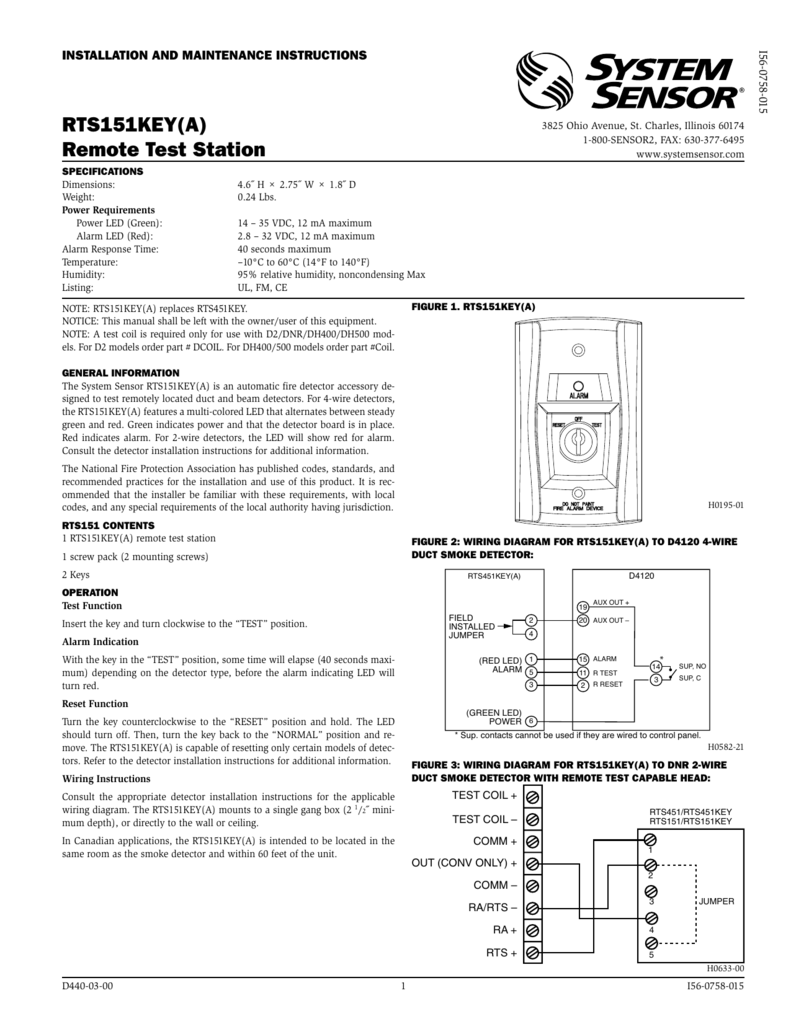 008138543_1 d197111f49654712ff62a951d4178c53 rts151key(a) remote test station d4120 duct detector wiring diagram at alyssarenee.co