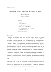 Are People Money Rich and Time Poor in Japan?