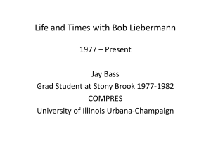 Life and Times with Bob Liebermann