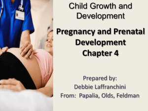 Child Growth and Development Pregnancy and Prenatal
