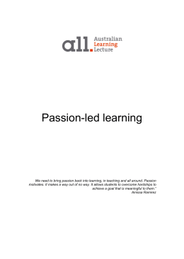 Passion-led learning