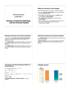 Macroeconomics CHAPTER 9 Savings, Investment Spending, and