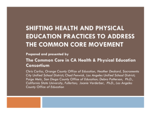 shifting health and physical education practices to address