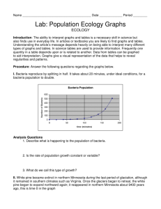 Lab: Population Ecology Graphs