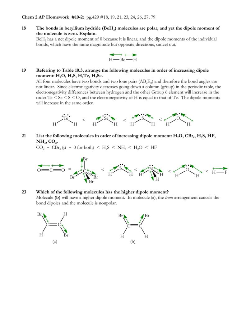 Chem 2 Ap Hw 10