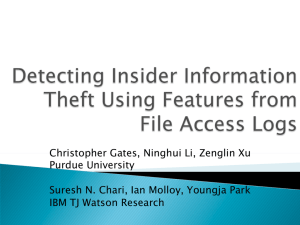 Christopher Gates, Ninghui Li, Zenglin Xu Purdue University Suresh