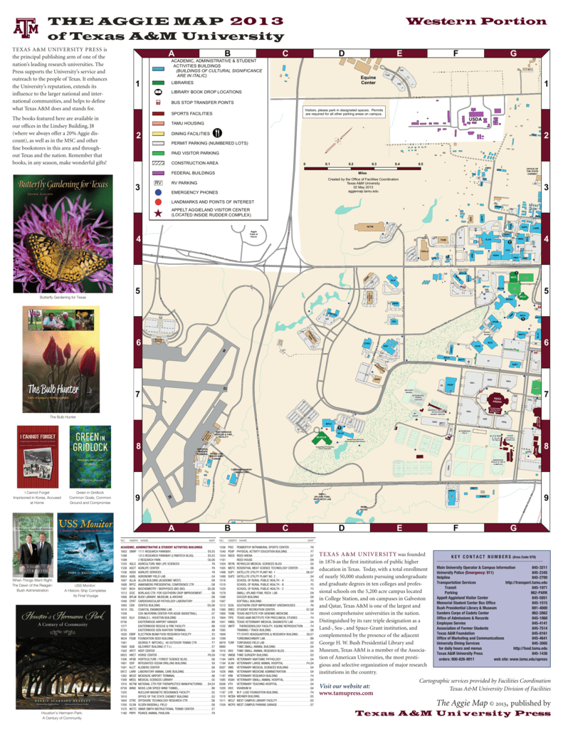 Map Of Texas Am.The Aggie Map 2013 Of Texas A M University