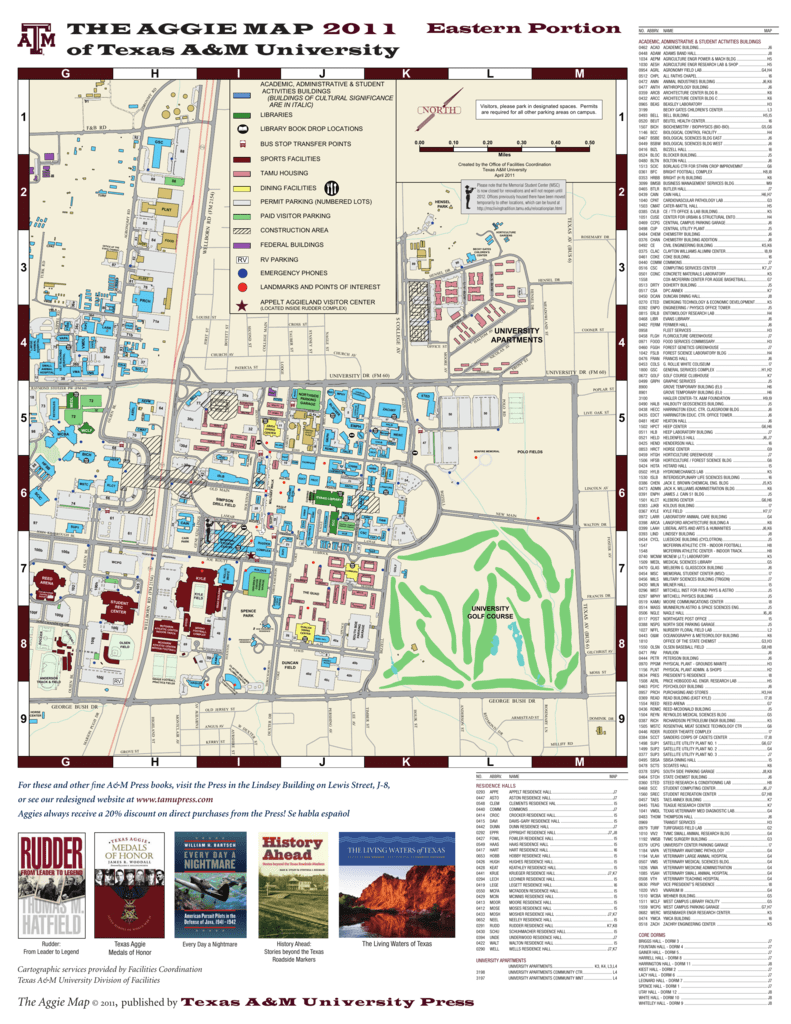 Map Of Texas Am.The Aggie Map 2011 Of Texas A M University