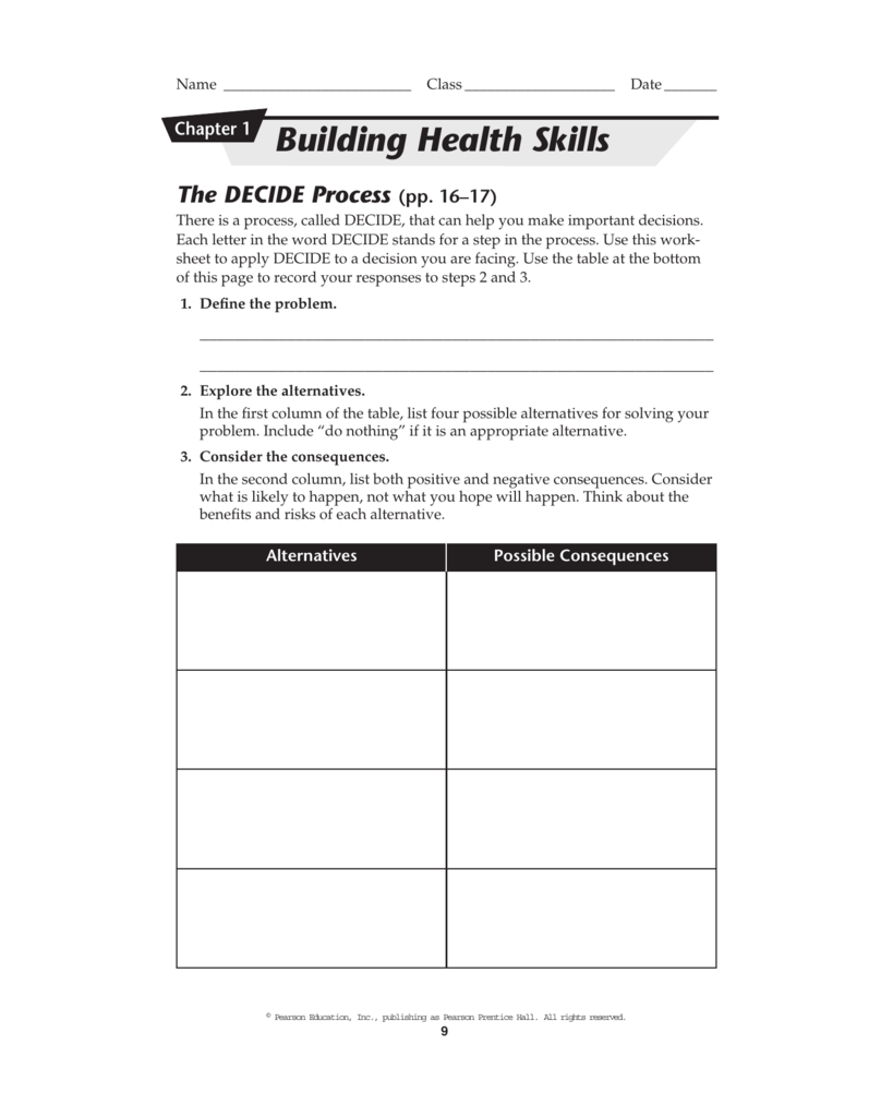 Worksheet Decision Making Skills Worksheets Thedanks Worksheet For