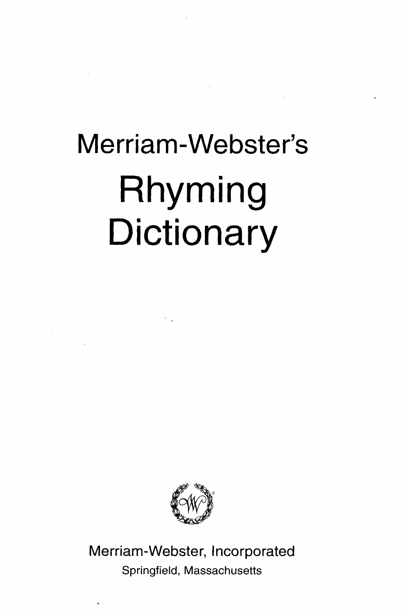a8d5761b Rhyming Dictionary