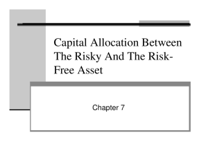 Capital Allocation Between The Risky And The