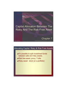 Capital Allocation Between The Risky And The Risk