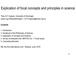 Explication of focal concepts and principles in science