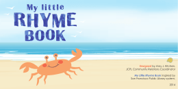 My Little Rhyme Book - Johnson County Public Library