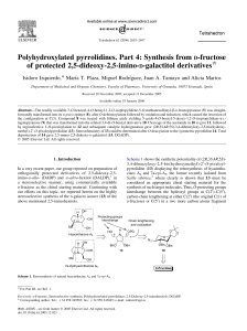 Polyhydroxylated pyrrolidines. Part 4: Synthesis from D