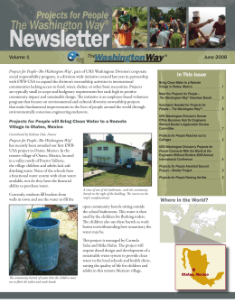 Engineers Without Borders, The Washington Way Newsletter