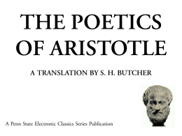 aristotle s poetics theme analysis Aristotle's poetics by aristotle aristotle's poetics themes these papers were written primarily by students and provide critical analysis of aristotle's.