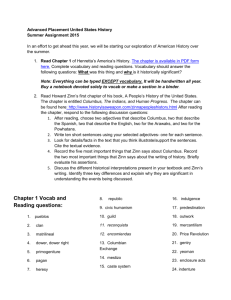 Chapter 1 Vocab and Reading questions