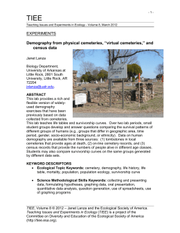 "EXPERIMENTS Demography from physical cemeteries, ""virtual"