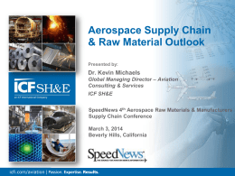 Aerospace Supply Chain & Raw Material Outlook